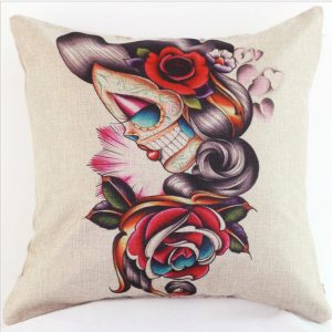 Skull Lady Cushion