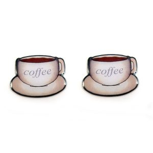 coffee cup stud earrings