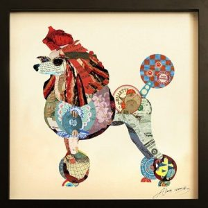 Collage Art Poodle Print