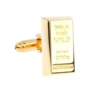 gold bullion cufflinks