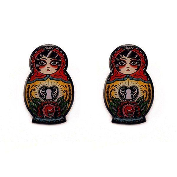 babushka earrings