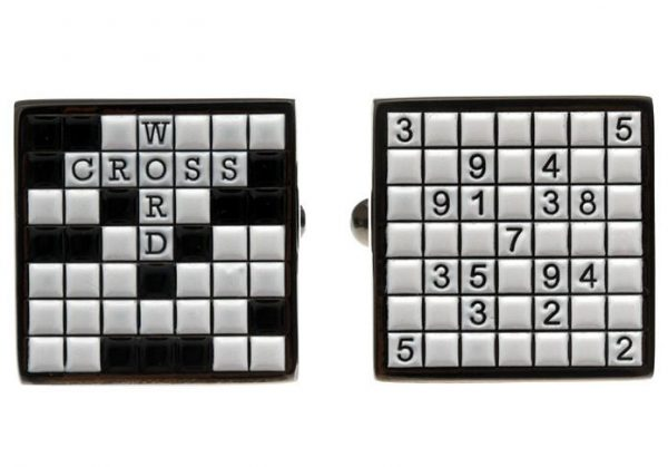 Crossword Puzzle Cufflinks
