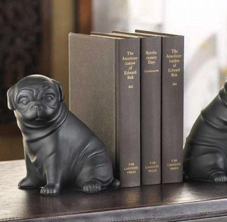 Pug Dog Bookends