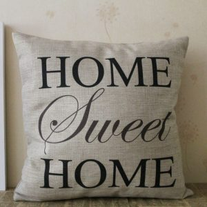 cushion home sweet home