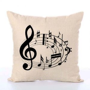 music notes cushion