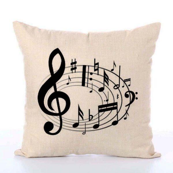 music notes cushion
