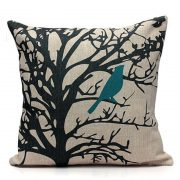 Cushion with Teal Bird