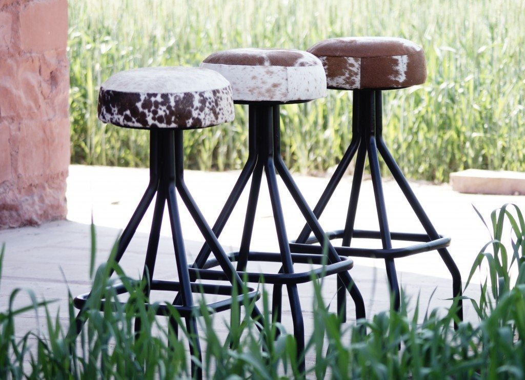 Genuine Cow Hide Stools Available Online Or In Store