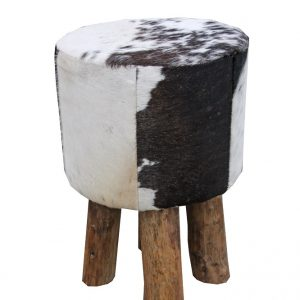 Cow hide stool