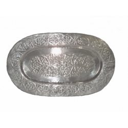 Silver Oval Plate