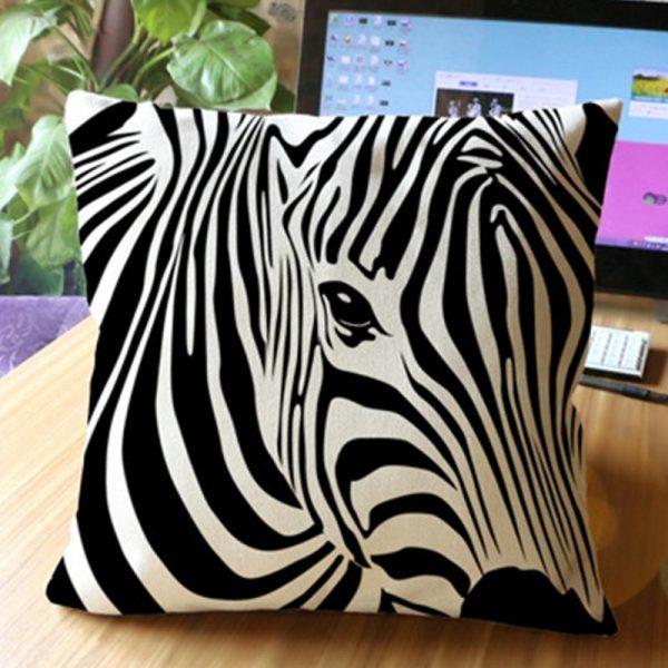 Zebra Head Cushion