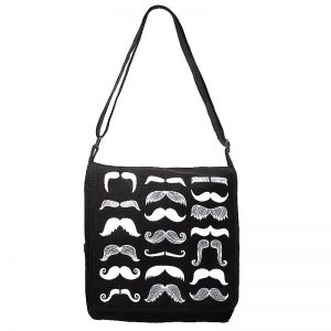 moustache design bag