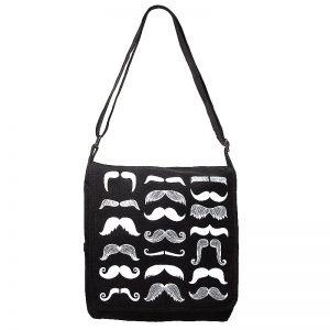 moustache design bag
