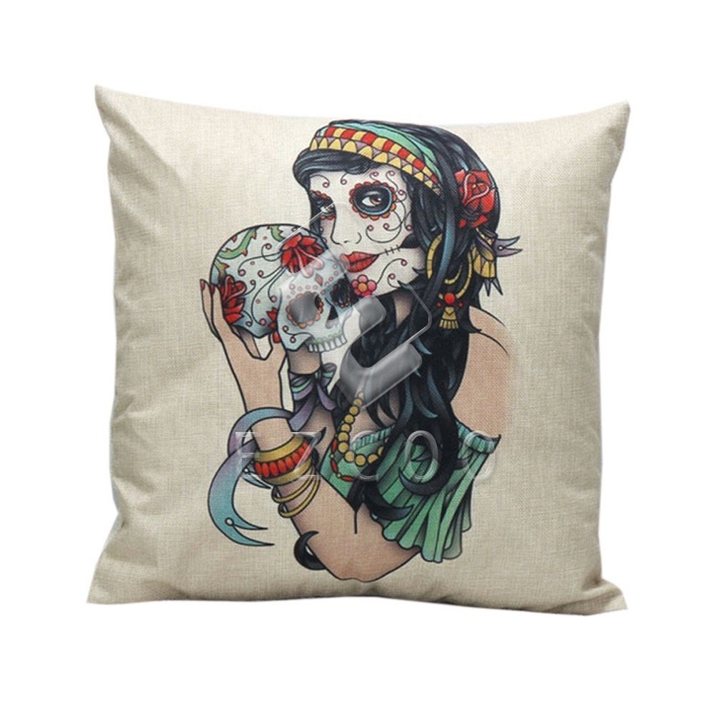 Skull Cushion - Gypsy Lady. From BIMBO ONLINE cushion ...