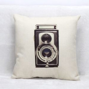 Vintage Retro Camera Cushion