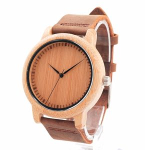 Men's Bamboo wood watch - Adelaide