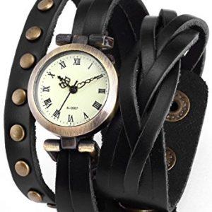 watch -retro wrap around - black