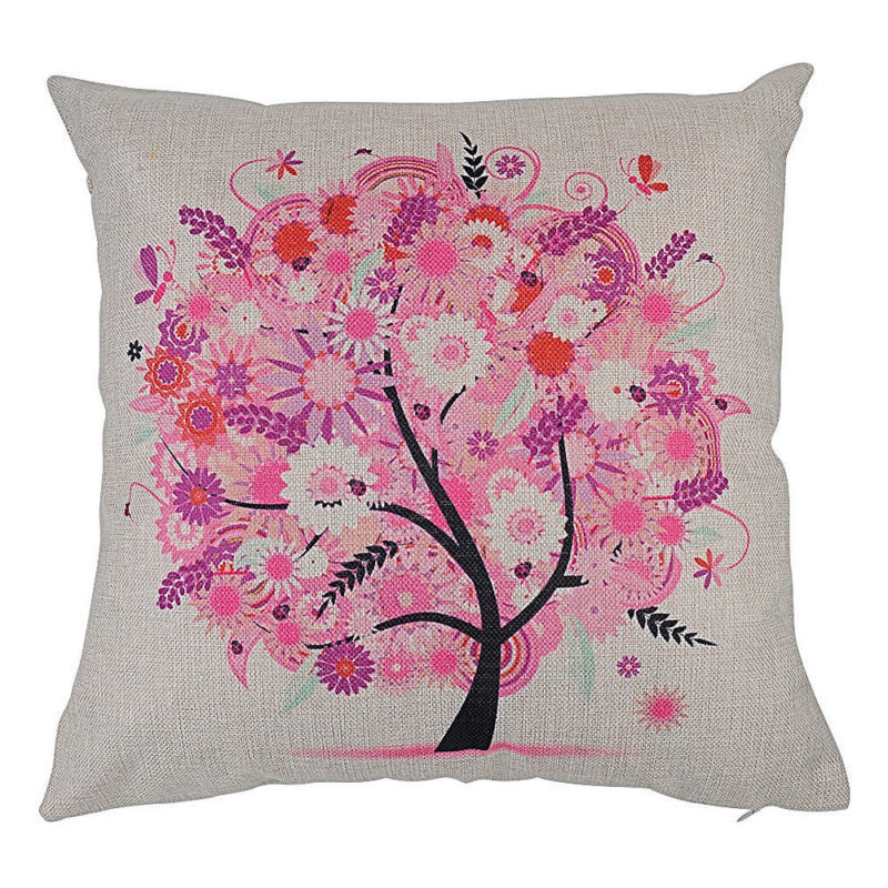 Pink flower tree cushion available from bimbo online pink flower tree cushion mightylinksfo