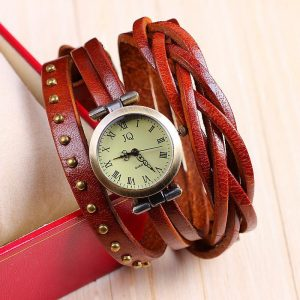 Ladies Watch - Retro Wrap - Red