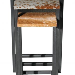Cowhide Nest of Stools